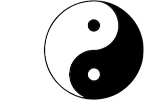 Tàiji, Symbol für Yin and Yang