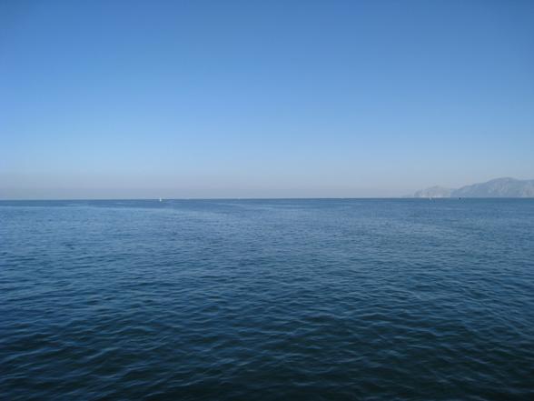 Blick ins blaue Meer