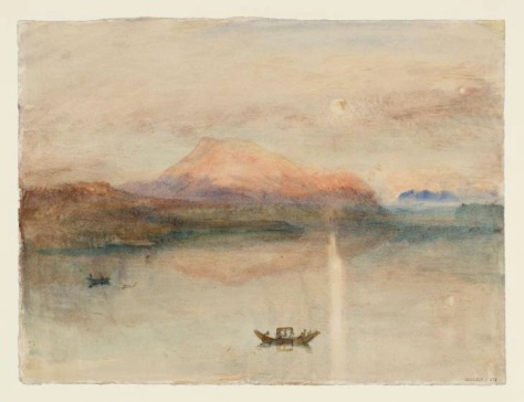 The Red Rigi: Water Colors, Sample Study circa 1841-2 by Joseph Mallord William Turner 1775-1851