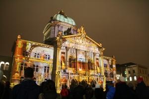"""Lichtspektakel """"Rendez-vous Bundesplatz"""" 2012, Foto: Urs Heumann"""
