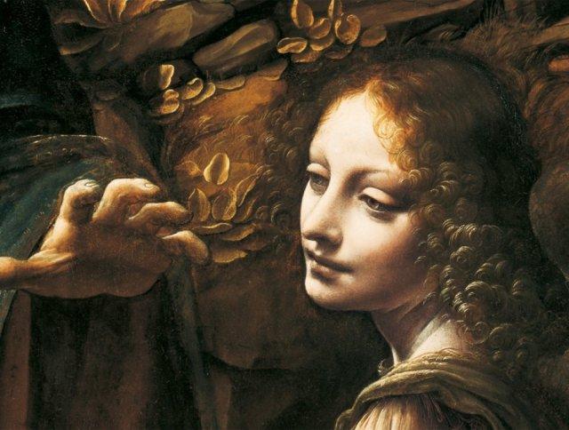 Detail aus Leonardo da Vincis Felsengrottenmadonna