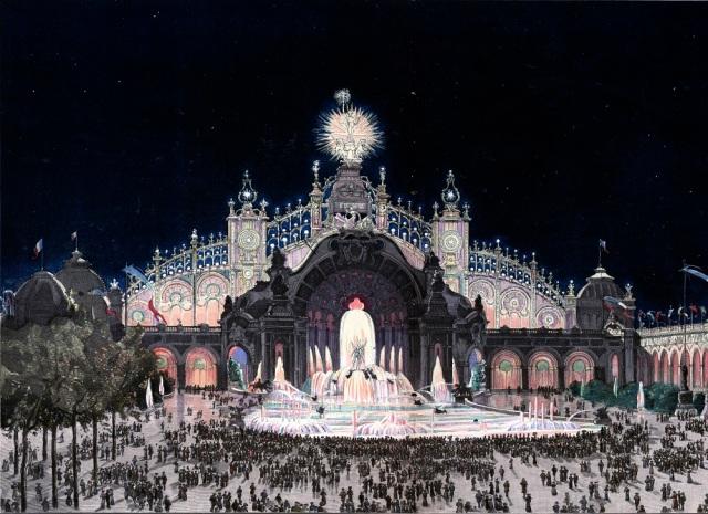 Palais de Electricité auf der Pariser Weltausstellung im Jahr 1900