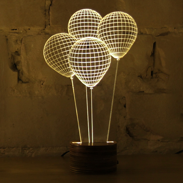 Bulbing Lamp, Ballons (Studio Cheha, Tel-Aviv)