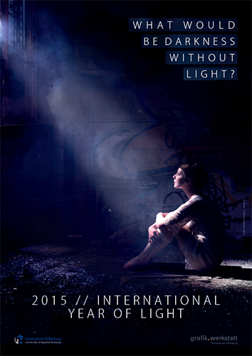 Plakat zum International Year of Light von Simon Schneckenburger (University of Applied Science Offenburg)