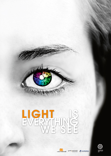 Plakat zum International Year of Light von Waldemar Schmidt (University of Applied Science Offenburg)