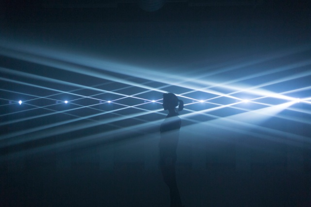 Audiovisual installation by Noemi Schipfer & Takami Nakamoto, NONOTAK, Parallels at STPR Biennial, Eindhoven, Netherlands, 2015 (Copyright: Artists)