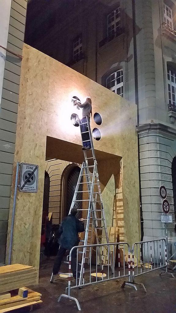 Vorbereitungen zum Rendez-vous Bundesplatz 2015, © Starlight Events/Projektil